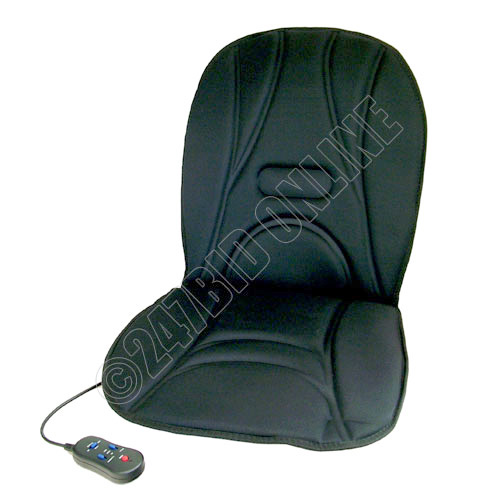 padded heated back massage cushion seat cover car home ebay. Black Bedroom Furniture Sets. Home Design Ideas