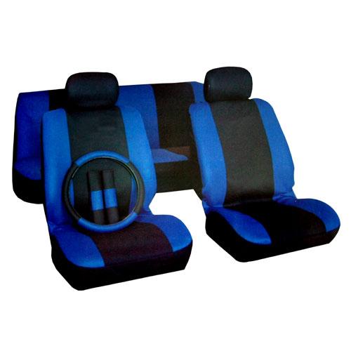 BLACK Amp BLUE RACING STYLE CAR SEAT COVERS SET STEERING