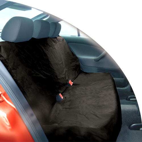 black heavy duty waterproof car rear back seat protector pet cover universal fit ebay. Black Bedroom Furniture Sets. Home Design Ideas