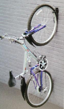 2 X Wall Mounted Mountable Cycle Storage Hook Bike Rack