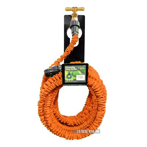 50ft expanding garden hose pipe spray gun hanger