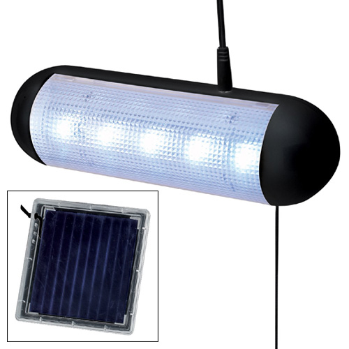 led solar powered garden shed light rechargeable garage stable lamp. Black Bedroom Furniture Sets. Home Design Ideas