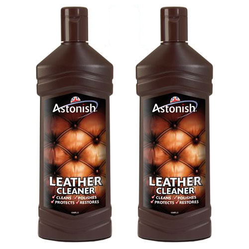 Conditioner For Leather Sofa: 2 X 235ml ASTONISH LEATHER SUITE CLEANER RESTORER SOFA