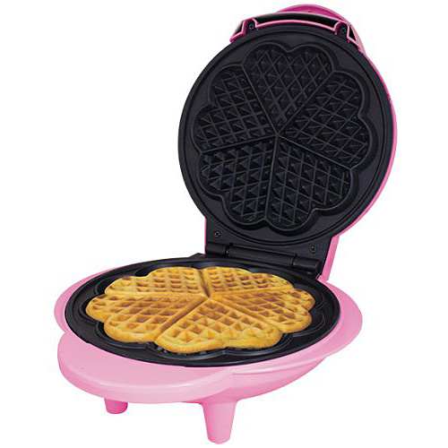 Electric Waffle Maker ~ Pink w electric non stick waffle maker making machine