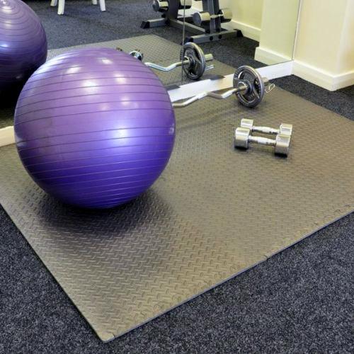 Large multi purpose eva foam floor exercise gym mat garage