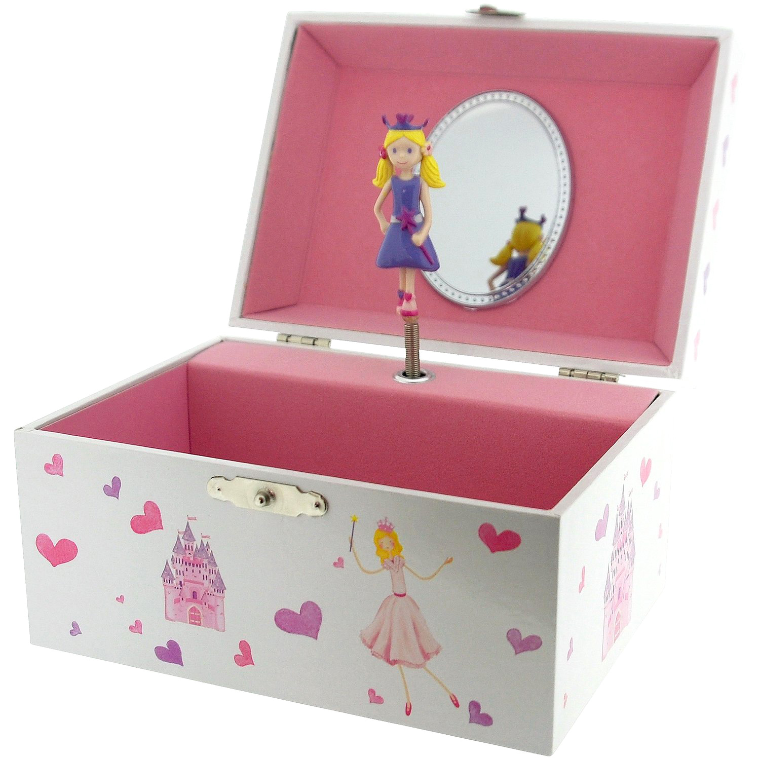 Mele co girls childrens musical princess jewellery box for Princess diana jewelry box