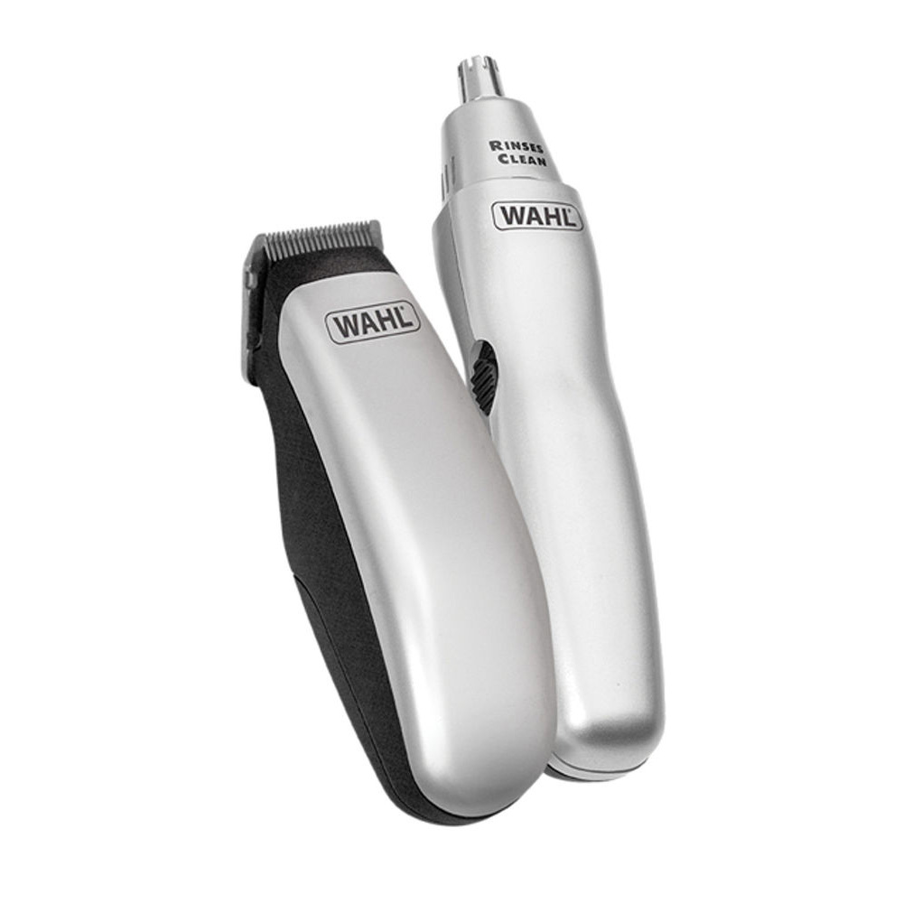 wahl travel grooming kit hair beard ear nose trimmers scissors clippers in pouch ebay. Black Bedroom Furniture Sets. Home Design Ideas