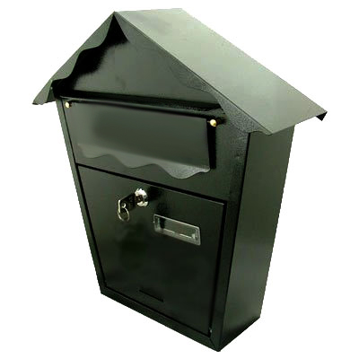 Wall Mounted Mail Letter Box Post Box Black Or White Ebay