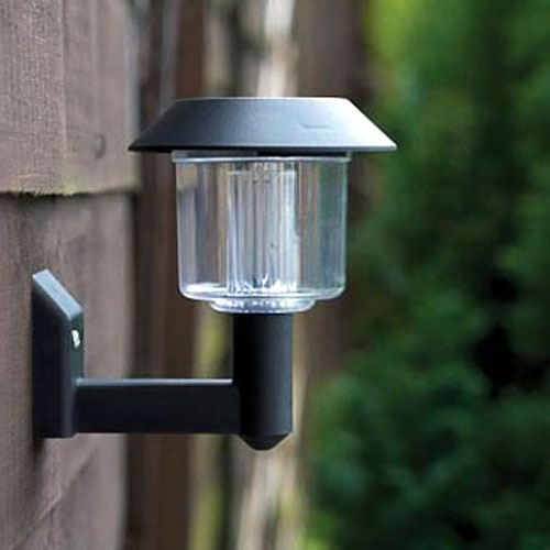 8xSOLAR POWERED LED DOOR FENCE WALL LIGHTS OUTDOOR GARDEN LIGHTING LANTERN eBay