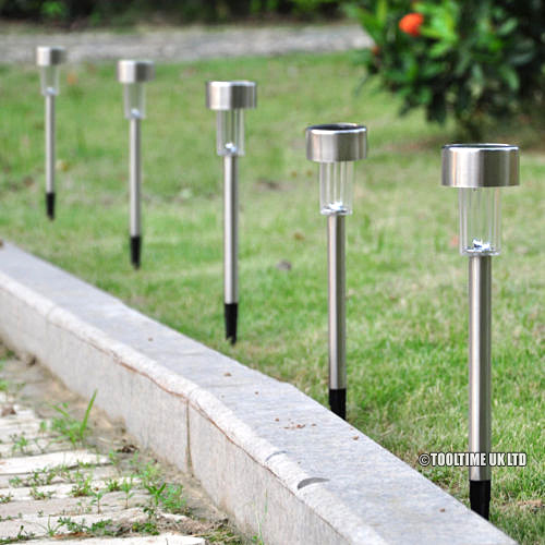 10 pack stainless steel solar post lights colour