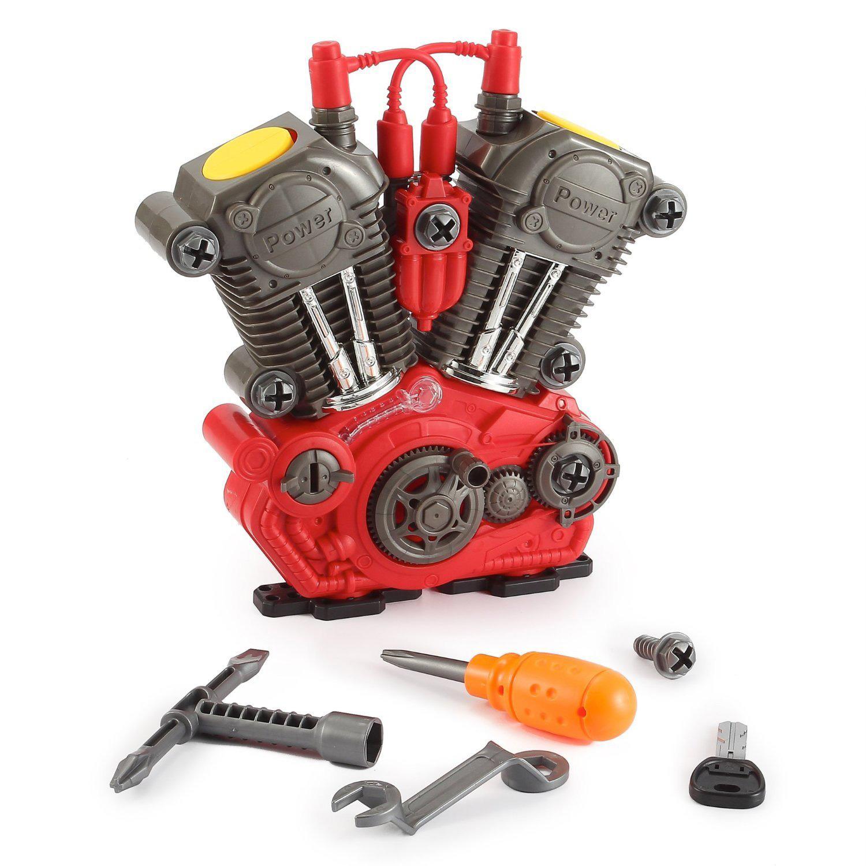 KIDS BUILD YOUR OWN MOTORCYCLE ENGINE OVERHAUL SET LIGHT