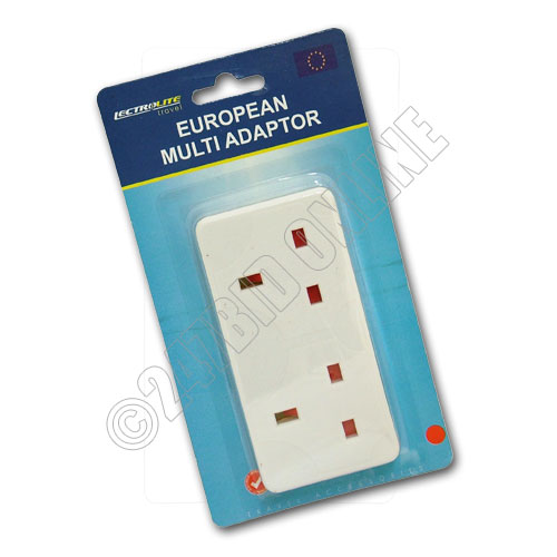Design Go Uk To Europe Double Adapter Adapter Types C Or F Aten Ps2 To Usb Adapter Samsung Type C Otg Adapter: TWIN EUROPEAN MULTI DOUBLE PLUG TRAVEL ADAPTER UK TO EU